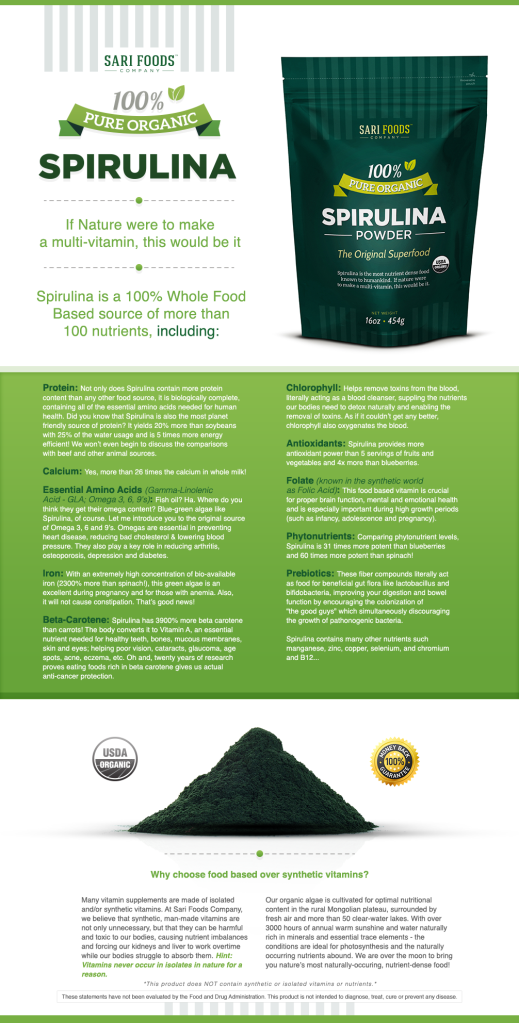 Organic Spirulina Powder by Sari Foods